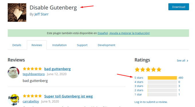 Disable Gutenberg Plugin