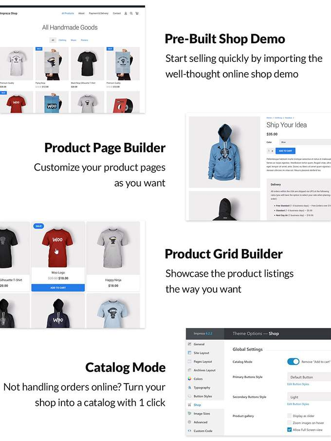 Impreza Thema Review Webshops Woocommerce