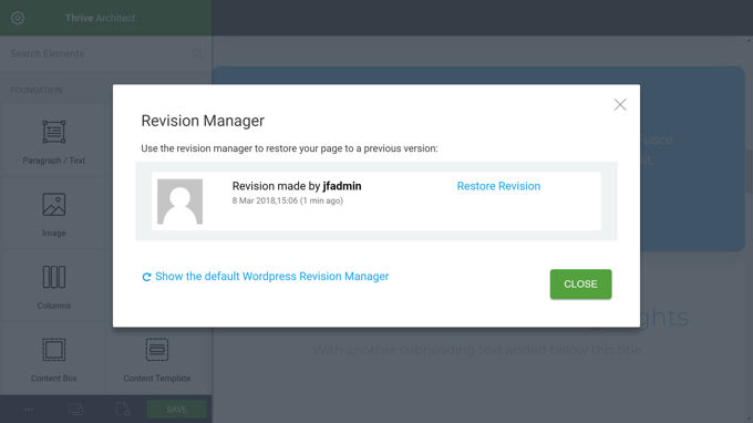 Thrive Architect Review Revisionsmanager