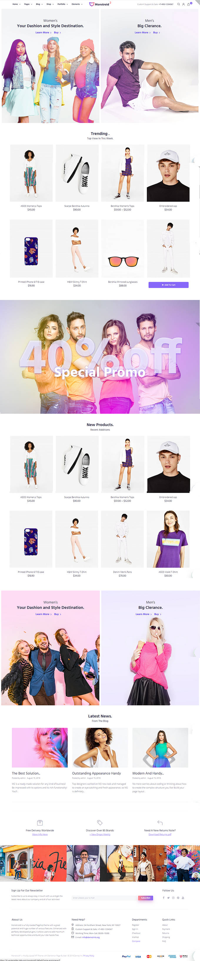 Monstroid-2 E-Commerce-Layout