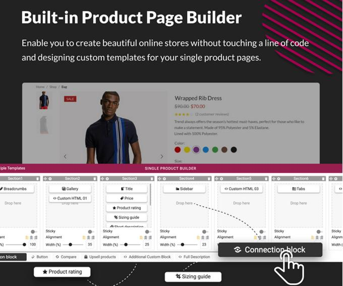 X-Store Theme Review Woocommerce Builder für Produktseiten